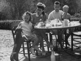 Actress Joan Crawford and Her Husband  Philip Terry  Having a Picnic with their Adopted Children