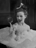 Actress Jeanne Crain Taking Bubble Bath for Her Role in Movie &quot;Margie&quot;