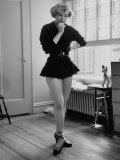TV Chorus Girl Joan Holloway Rehearsing at Home