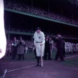 Baseball Player Babe Ruth in Uniform at Yankee Stadium