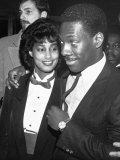 "Actor Comedian Eddie Murphy and Fiancee Lisa Figueroa at Film Premiere of His ""Beverly Hills Cop"""