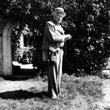 Swiss Psychiatrist Dr Carl Jung Standing in Garden Outside His Home