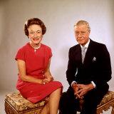 Sitting Portrait of England's Duchess and Duke of Windsor