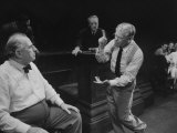 "Actors Ed Begley and Paul Muni Performing in a Scene from the Play ""Inherit the Wind"""