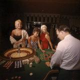 Jayne Mansfield  Rita Moreno  Gloria Paul Gambling at Dunes Casino Las Vegas  1955