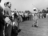 Golfer Ben Hogan  Playing in a Golf Tournament