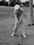 Golfer Ben Hogan  Demonstrating His Golf Drive