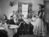 Radio Singer and Comedian  Minnie Pearl Performing for Hospital Patients While on Tour