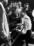 Jam Session with Duke Ellington  Audience Surrounding Piano to Listen