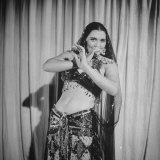 Egyptian Dance and Film Star Tahia Carioca Doing Belly Dance