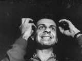 Comedian  Mort Sahl During Night-Club Routine