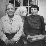 Author Gertrude Stein Sitting with Alice B Toklas at a Villa