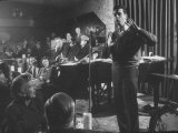 "Comedian  Mort Sahl Entertaining at a Night-Club Called ""Mister Kelly's"""