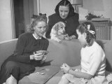 Actress Margaret O'Brien Playing Cards with Her Aunt and Mother