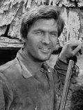 "Actor Fess Parker Starring in the Movie ""Davy Crockett"""