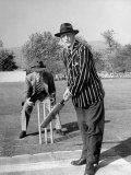 Actors C Aubrey Smith and Henry Stephenson Playing Cricket