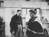 Actor Cantinflas Visiting Diego Rivera in His Studio