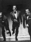 Performers  Sammy Davis Sr  Sammy Davis Jr  and Will Mastin  Together on Stage at Ciro's Dancing