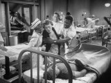 "Actor Sidney Poitier in Hospital Scene from Movie ""No Way Out"""