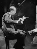 Composer Samuel Barber  Conducting with Baton