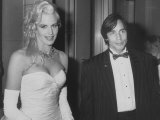 Actress Daryl Hannah with Boyfriend  Singer Jackson Browne at an American Cinematographers Dinner