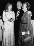 Television News Broadcaster Walter Cronkite with Daughter Nancy and Wife Betsy at Benefit