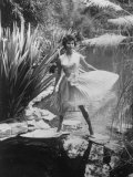 Actress Sophia Loren Walking Through Grounds of Hotel
