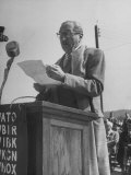 Actor Adolphe Menjou Making a Speech at the Opening of Oak Ridge Atomic Energy Center
