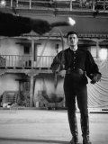 Actor Guy Williams Practicing Swordplay for His Role as Zorro