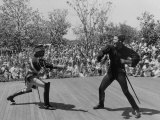 Actor Guy Williams Playing Zorro at Disneyland