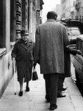 Argentine Author Julio Cortazar Walking Along Parisian Street