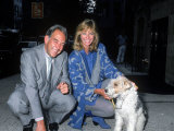 TV Personality Robin Leach with Model Cheryl Tiegs and Dog