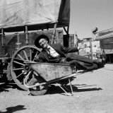 "Actor Kirk Douglas Clowning on the Set of the Western Action Film ""Gunfight at OK Corral"""