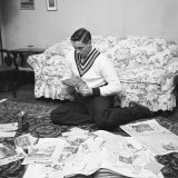 Hockey Great: Jean Beliveau Sorting News Articles About His Hockey Career