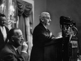 Author William Faulkner Making a Speech Upon Receiving the National Book Award