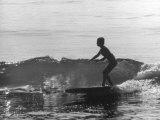 16 Yr Old Surfer Kathy Kohner Riding a Wave