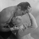 Lola Albright and Kirk Douglas Posing for Ads