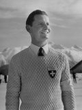 Hans Gerschwiler Smiling at the Winter Olympics
