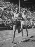 British Empire Games  Runners John Landy and Roger Bannister Competing