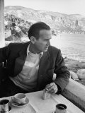 Artist Graham Sutherland Sitting at His Home in the South of France