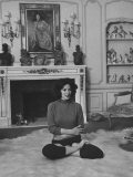 Mexican Actress Maria Felix Doing Yoga Exercises