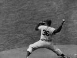 Brooklyn Dodger's Baseball Player Don Newcombe Pitching During the Braves Vs Dodgers Game