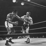 Boxers Ray Robinson and Carmen Basilio Fighting in the Ring