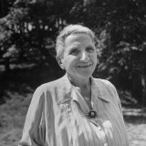 Author Gertrude Stein Outdoors Alone