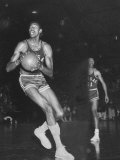 Wilt Chamberlain Playing Basketball During a Game Against Iowa State