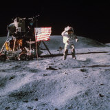 Astronaut John Young During Apollo 16 Moon Walk
