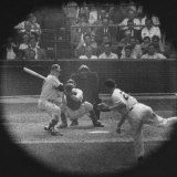 New York Yankees Player Mickey Mantle  Batting During Game