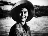 "Actress Ava Gardner Smiling in a Scene from the Film ""Mogambo"""