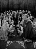 Entertainer Jackie Gleason Standing in the Midst of a Stage Full of the Glamorous Chorus Girls