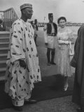 British Queen Elizabeth II with Azikwe Namdi During Her Visit to Nigeria